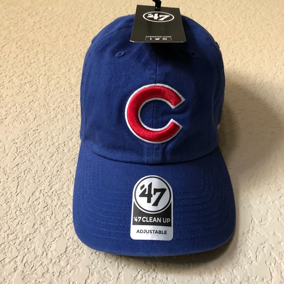 f9449d14ca9 NWT Adjustable CUBS Baseball Hat Cap  47 Clean Up